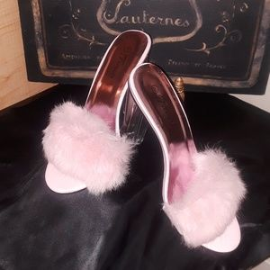 Ladies forever faux fur mules
